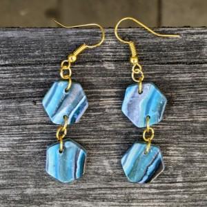Beautiful Boho Earrings: Modern and Lightweight earrings | Geometrical Earrings | Fimo Earrings Turquoise earrings