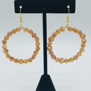 Amber Crystal Hoop Earrings