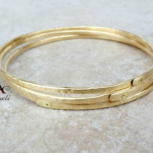 Gold bangles, brass bangles, stackable bangles, handmade bangles, unique bangle set, jewelry, womens bracelets, gold bracelets