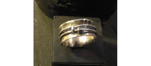 Anticlastic Spinning Ring Sterling Silver