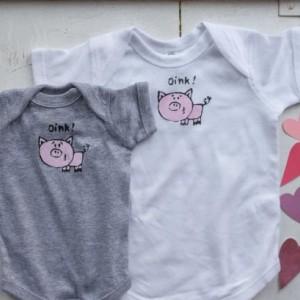 Oink Little Piggy Original Design, Onesie or T-Shirt