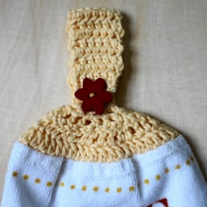 Eat, Laugh, Love Crochet  Top Towel, Kitchen Hand Towel, Crochet KitchenTowel