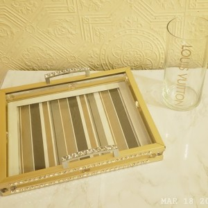 Glam vanity trays