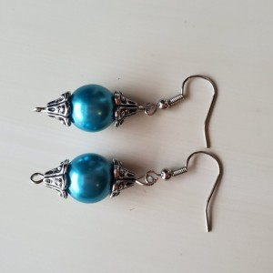 Beautiful Handmade Silver and Blue Earrings