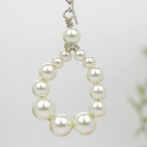 Pearl Earrings, Glass Earrings
