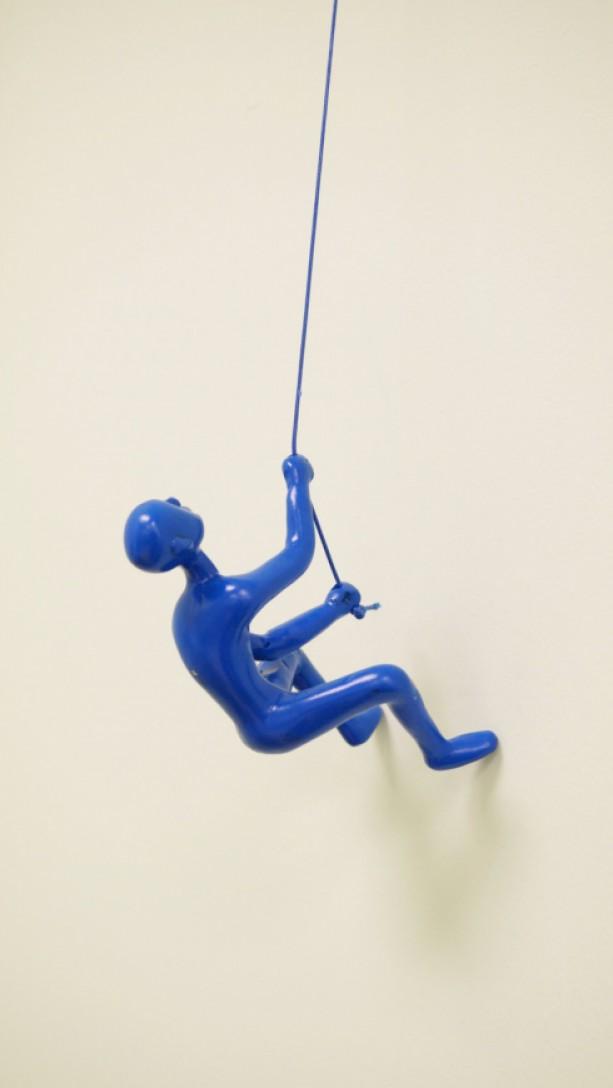 Climbing Man Wall Art buy 4 get 1 free! wall art decor, climbing man wall art, blue cli