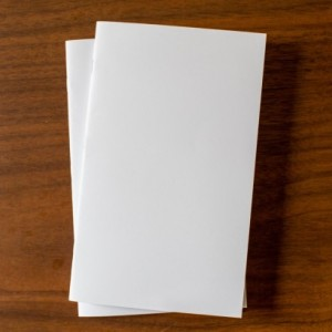 White Notebook 5 Pack - 5.25 x 8.25 diary journal bulk notebooks party favors sketchbook party favors wedding logo free blank flat rate shipping