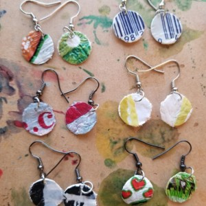 Fused Plastic Earrings and Necklace