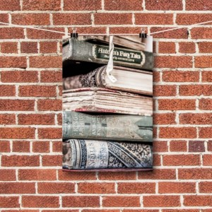 "Book Photography, Book Photo, Vintage Book Art, ""Stacked"""