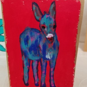 Cute, Hand-painted Donkey Blank Notecards, 5-Pack