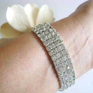Champagne Gardenia Wrist Corsage Wedding Bridal Bridesmaid Maid of Honor Bracelet Diamond Wrist Band Clay Flowers Mother Of Bride Corsage