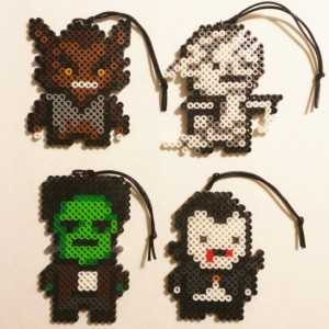 Classic Scary Movie Ornaments/Magnets- Wolf Man- Mummy- Frankenstein- Dracula