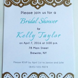 Hand-cut Layered Invitation in Lace Style-Pack of 10-Perfect for Showers, Weddings, Sweet 16, Birthday, etc. Several Colors Available