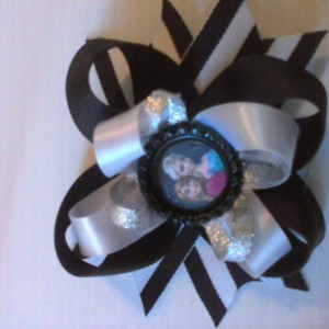 Frozen Inspired Hair Bow Elsa Anna