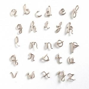 Sterling Silver Alphabet Initial Stud Lowercase Earrings