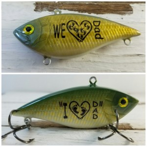 I Love Dad Fishing Lure, Grandfather gift, Pop Pop, Grampy, Grandad, Father gift, Man gift, Fishing gift, personalized