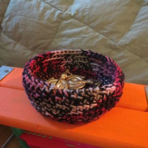 Red & Black Cloth (jewelry, keys, change, electronics, etc.) Bowl