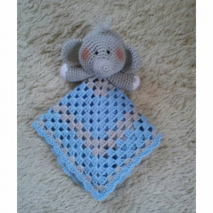 Bear Lovey Baby Blanket, Comfort Blanket, Security Blanket, Baby Shower Gift, Baby Gift
