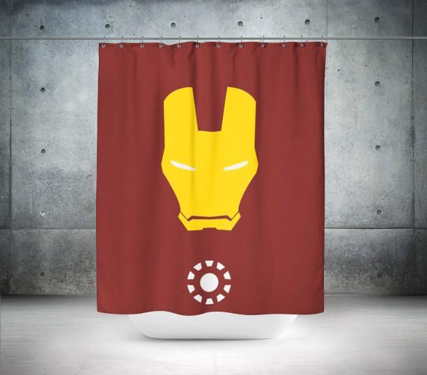 Iron Mask Shower Curtain