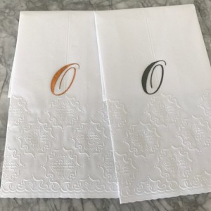Hand paper towel with monogram (12 towels) - Towels - Monogram Towel - Wedding Towel - Black, Gold , Silver, Cooper and Grey