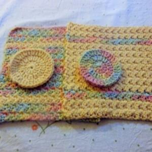 Cotton Washcloth Set with Bonus