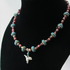 Sedona Hummingbird Beaded Necklace