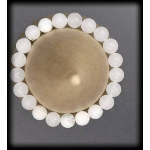White Jade Solid Gemstone Bracelet for Wisdom and Friendship