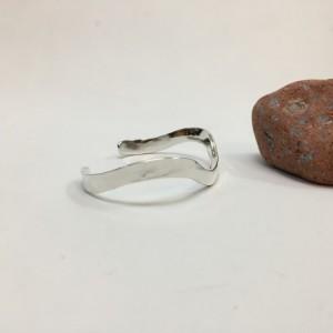 Silver Top-Forged Bracelet - Size 7