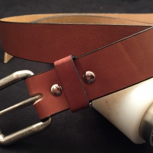 Custom Made Water Buffalo Belt  Light Brown