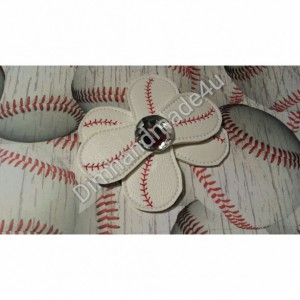RTS! Set of 6 Baseball Flower, flip flop, hair Accessory, feltie, wholesale embroidered, Baseball mom, Women, opening day, spring, sister