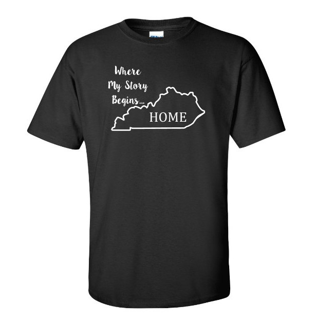 Kentucky State T Shirt, Where My Story Begins... Home State T Shirt FREE SHIPPING