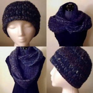 Crocheted and Knit Winter Sets, Scarves and Hats for Men and Women