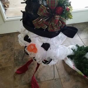 Snowman Wreath Indoor Outdoor Door Decor Christmas Decoration Frosty The Snowman Wreath
