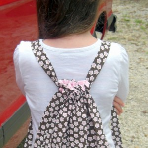 Bonnie Brown Child Drawstring Backpack