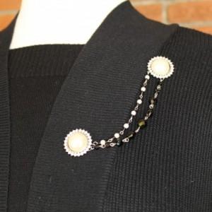 Rhinestone and Pearl Sweater Keeper
