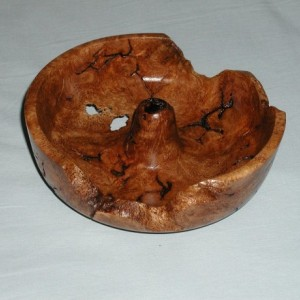 Oak Burl Crater Bowl
