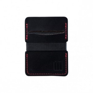 Black Minimalist Leather Wallet