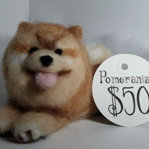 Felted Wool Pomeranian