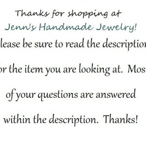 """Inspiration Necklace- """"you made a difference every day"""" with an accent bead of your choice- Hand-Stamped Necklace"""
