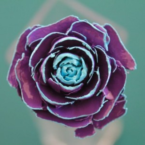 Purple Hand-Painted Cedar Rose Pine Cone Flower
