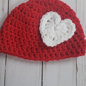 Valentines Day Heart hat/ beanie for Newborn
