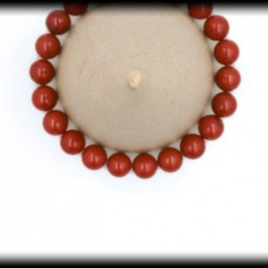 Red Jasper Solid Gemstone Bracelet for Overall Good Health