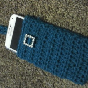 Bling  and Buckles Crochet Phone Case