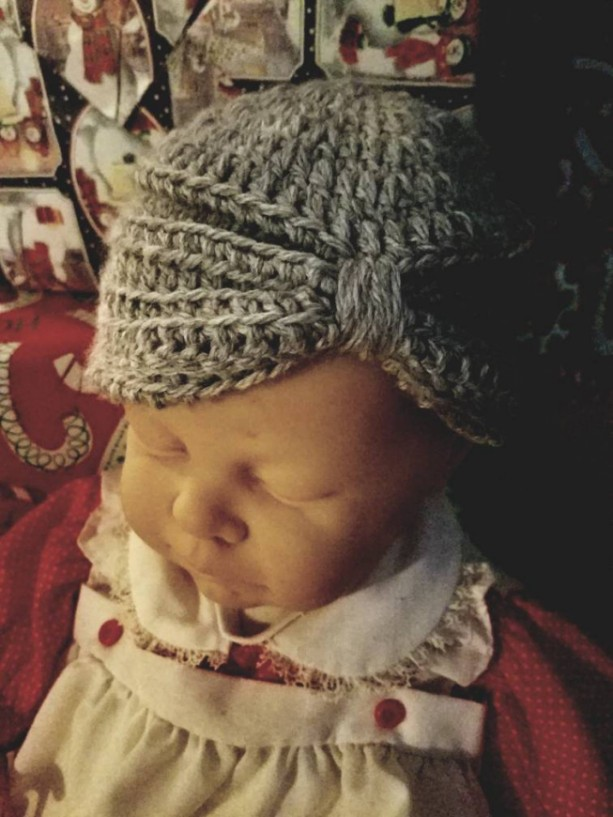 Crochet baby hat turban style.  Baby accessories baby shower