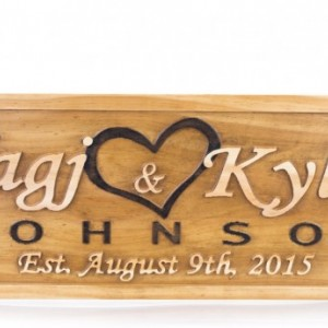 Wedding Engagement Gift Wedding Name Sign Bridal Shower Gift Save the Date Prop Couples Wedding Gift Wedding Date Sign Wedding Wood Gift