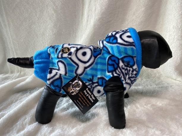 "XS owl pattern hoodie 15-16"" girth"