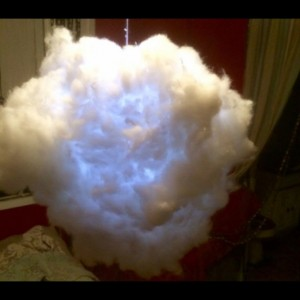Magical,whimsical hanging cloud light