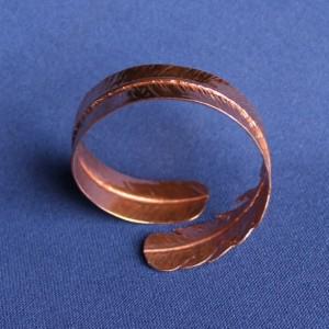 Copper Cuff Foldformed Feather