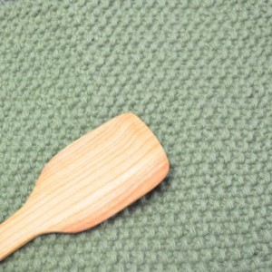 Kitchen Set  Cherry wood Spatula Hand Knit Dish Cloth Hanging Towel Mini Cherry Wood Spatula