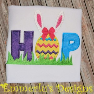 HOP Easter Bunny and Egg Shirt or Bodysuit
